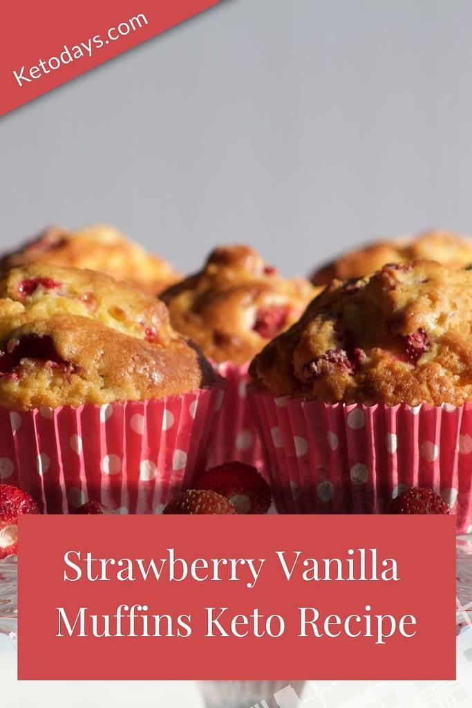 Strawberry Vanilla Muffins Keto Recipe