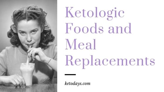 girl is drinking a shake with the words ketologic foods