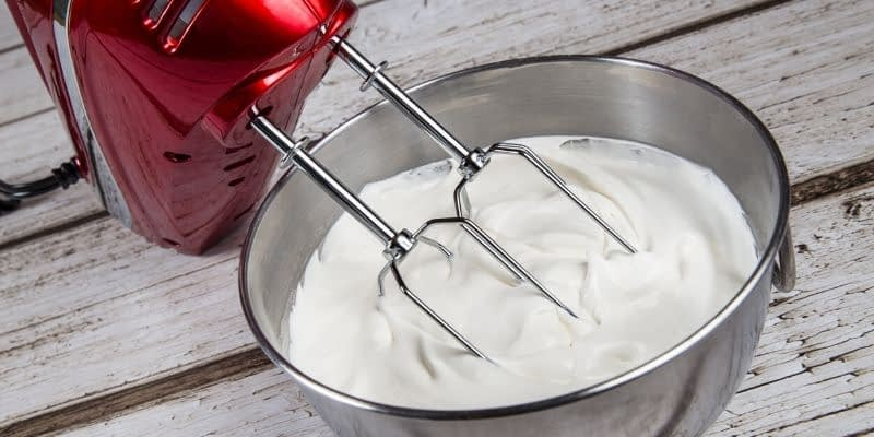 This is an easy whipped cream keto recipe that is easy to scale for larger desserts. It's light, fluffy, and the perfect topping for any keto fat bomb or dessert recipe.