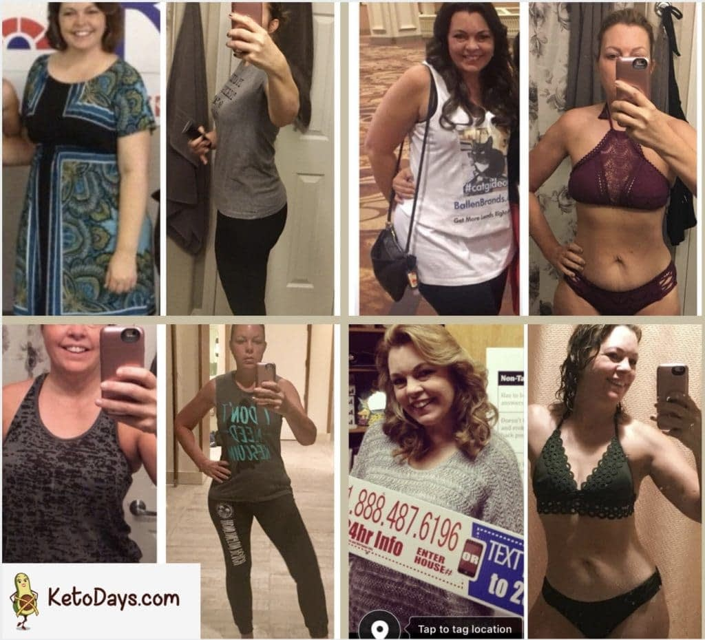 Lori Ballen Before and After Keto Collage with the keto diet plan