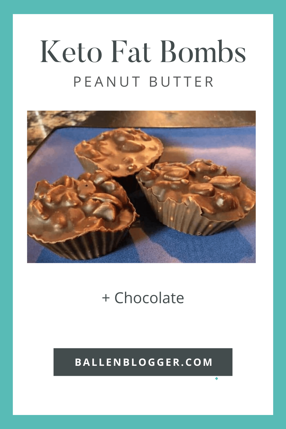 Enjoy these Dark Chocolate Peanut Cluster Fat Bomb Keto Recipe. You can use almonds instead of peanuts if you like.