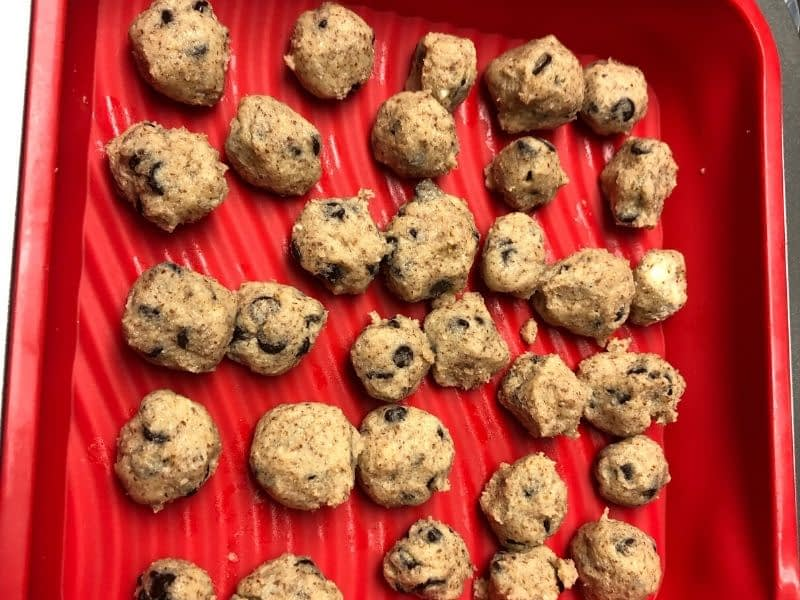These are the Cookie Dough Bites that are added to the Keto Ice Cream