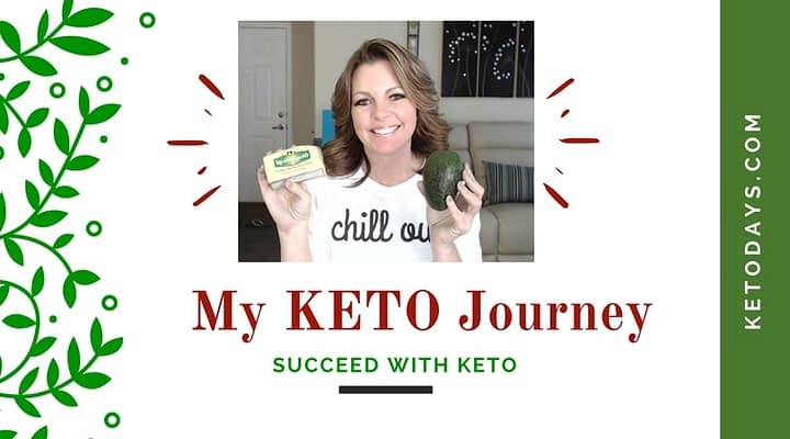"Lori Ballen, Keto Coach, is holding up an avacado and kerrygold butter. The banner reads ""My Keto Journey"" and succed with Keto"