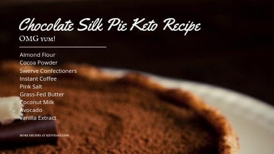 Chocolate Silk Pie Keto Recipe