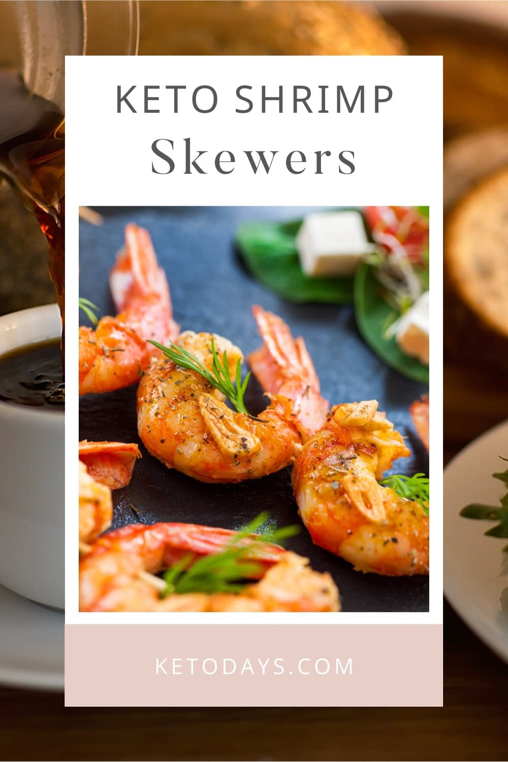 10g fat | 20g protein | 15g carbs | 5g fiber  Having a barbecue? Make these Spicy Mexican shrimp skewers to provide a Keto friendly option full of flavor.