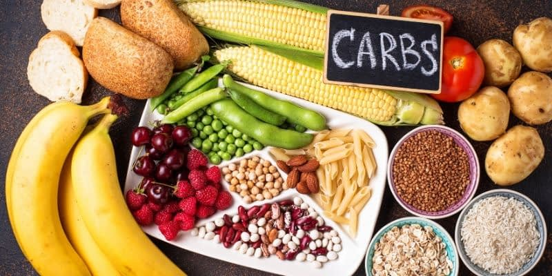 All food labels are required to list the total carbohydrates; this will tell us how many grams of carbohydrates are in each serving. Total carbs also include dietary fiber and sugars (and sugar alcohols).