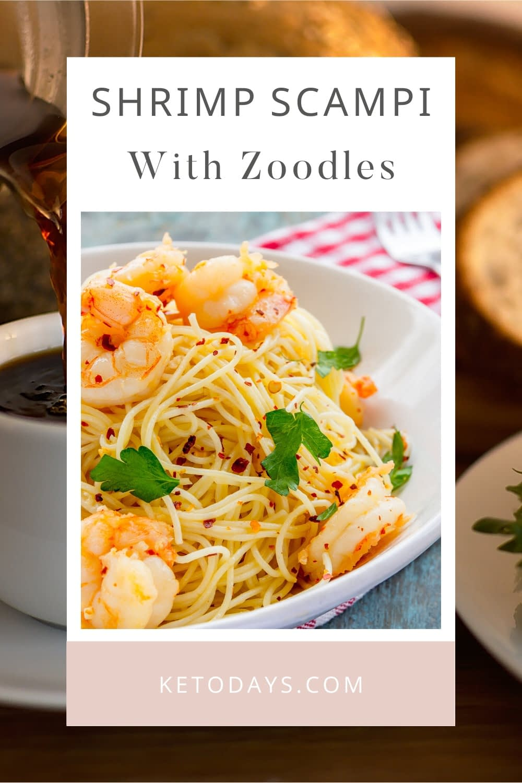 Enjoy this Shrimp Scampi with Zoodles Keto Recipe.