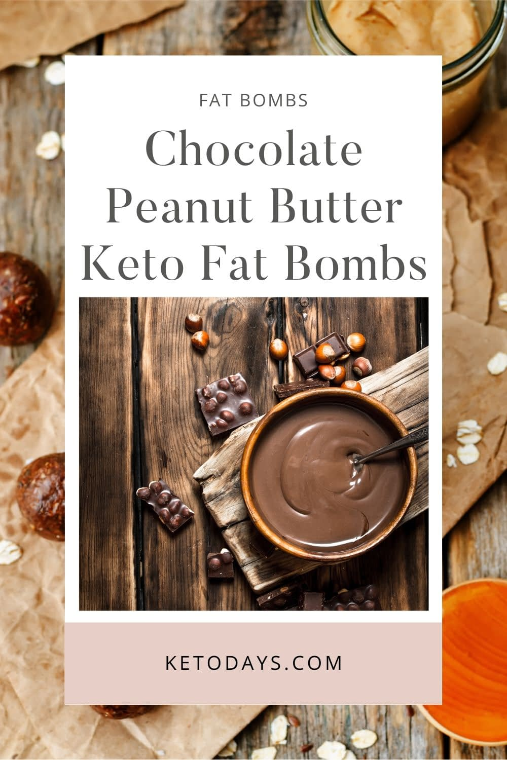 Chocolate Peanut Butter Keto Fat Bombs