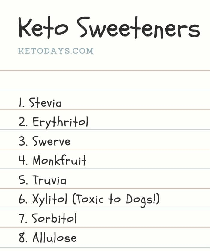 List of Keto Sweeteners