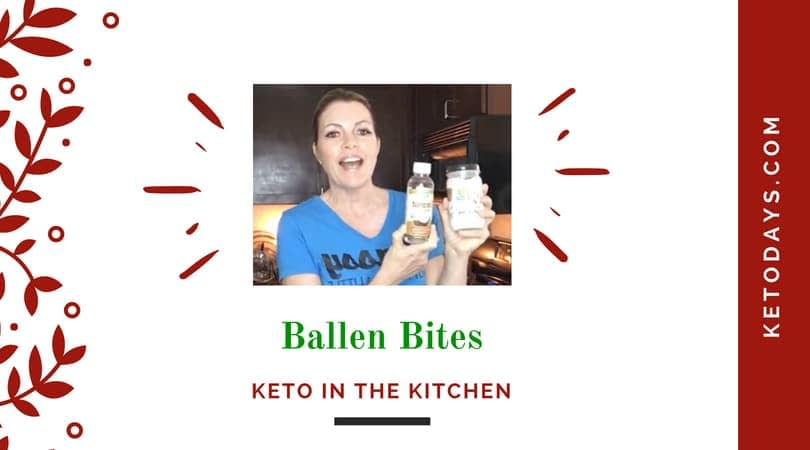 Lori Ballen holds up coconut oil as she compares the two for her keto diet recipe