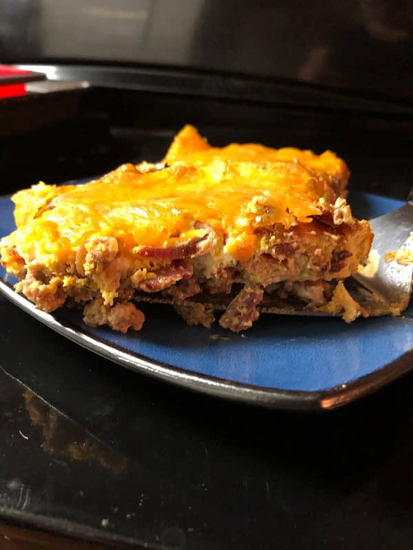 Keto BBQ Bacon Cheeseburger Casserole