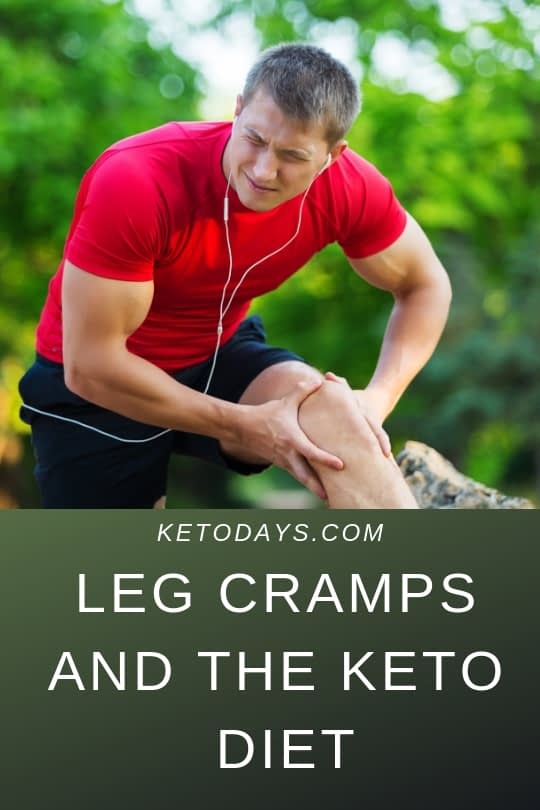Man is holding is leg as if he has leg cramps which could possibly be lack of magnesium or potassium while on the keto diet