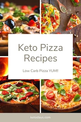 There are many ways to prepare Keto Pizza. From Almond Flour Crust to Cauliflower crust and even Pizza Lasagna Recipes, you have plenty of low carb Pizza options. Enjoy!