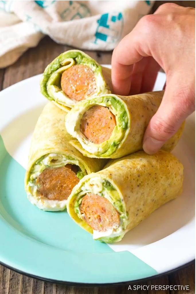 Keto Breakfast Egg Wrap for Keto Breakfast On The Go