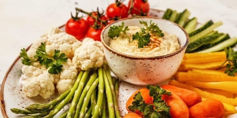 Enjoy this Low Carb Cauliflower Hummus Keto Recipe.